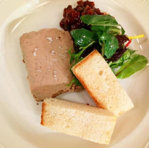 Chicken liver parfait toasted brioche